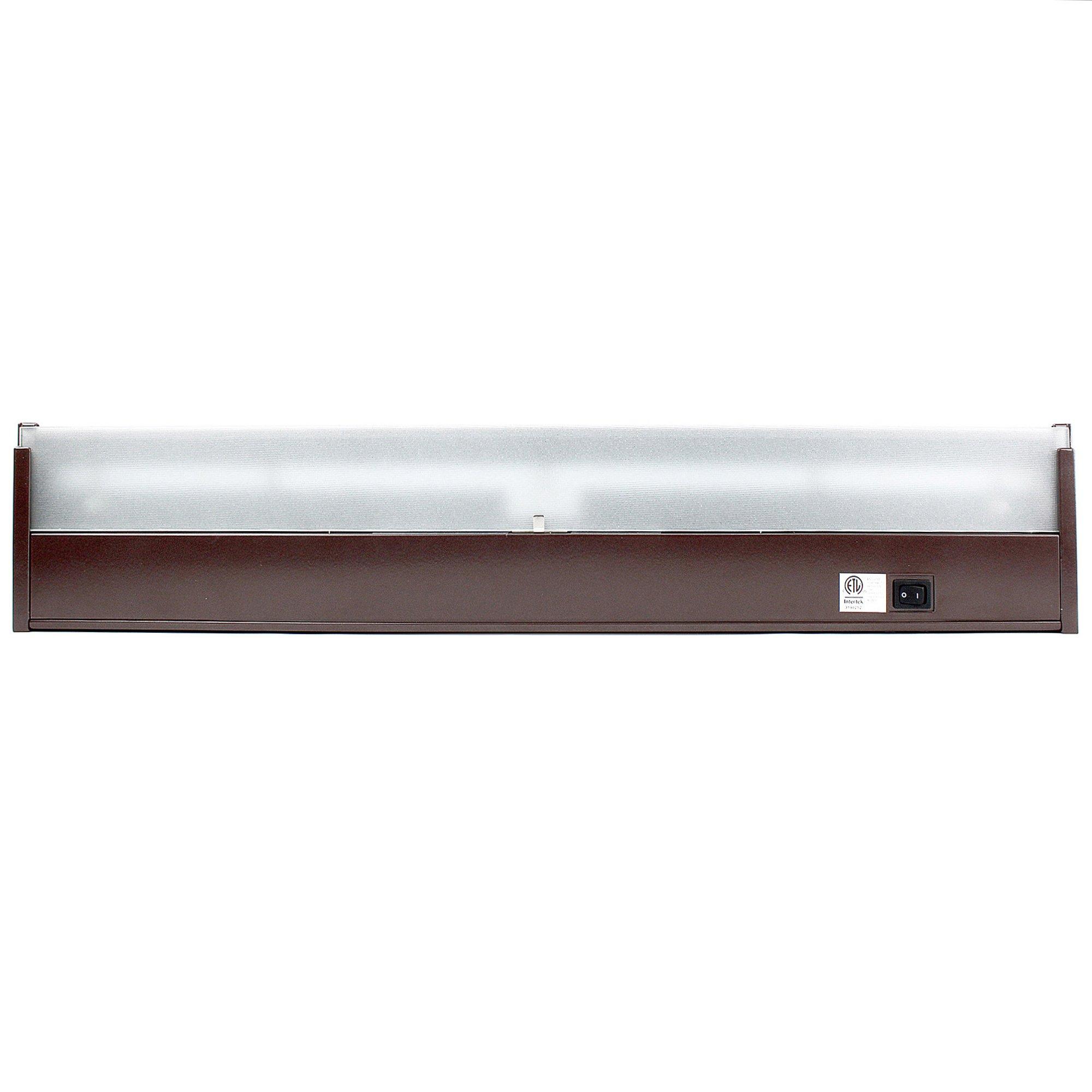 GM Lighting UCLED-24-BZ-DIM 120V Lumentask LED Undercabinet Light Fixture, LumenTask LED Lighting, Quality LED's, 3000k, 24'', Bronze