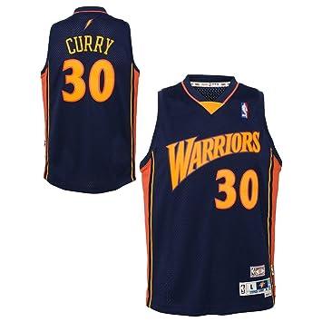 Genuine Stuff Steph Curry Golden State Warriors Nba – Camiseta de Soul Jersey – Azul marino