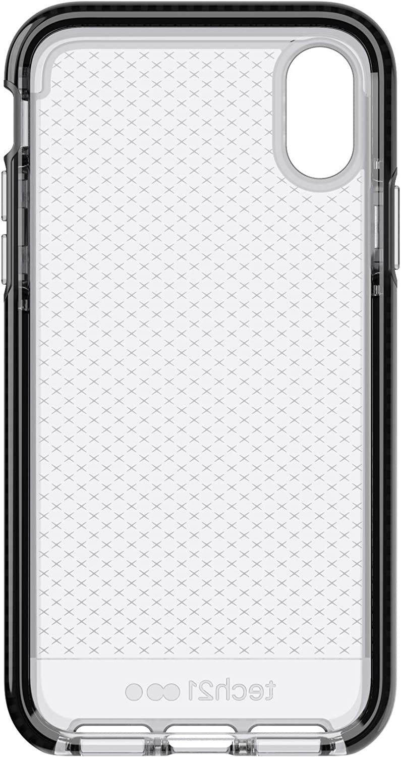 tech21 - Evo Check Case for Apple iPhone Xs - Smokey/Black