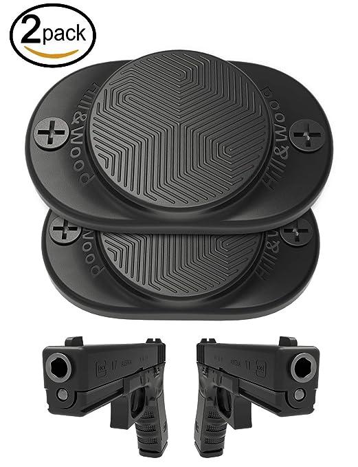 Review Hill & Wood Gun Magnet [2-Pack] | 30 lbs Rated | Rubber Coated Magnetic Gun Mount Gun Magnet-Concealed Gun Holder Car, Handgun, Pistol, Rifle, Shotgun, Revolver