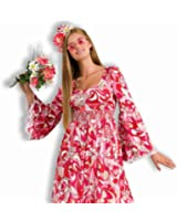 Womens 70s Outfit Long Hippie Dress Halloween Costume
