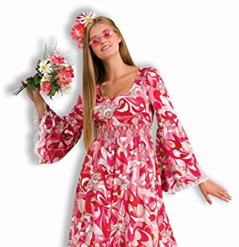 Amazon Com Hippie Flower Child Adult Plus Costume Clothing
