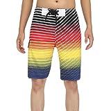 Milankerr Men's Stripe Boardshort Yellow