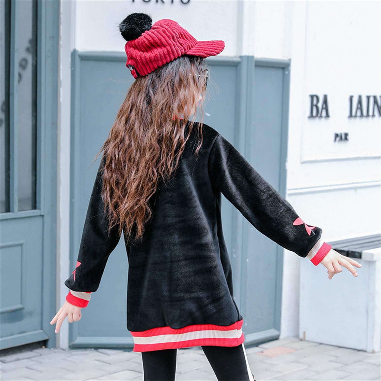 Melissa Wilde Children Winter Fleece Clothing Star Print Kids Cotton Flannelette Sweatshirts for Girls