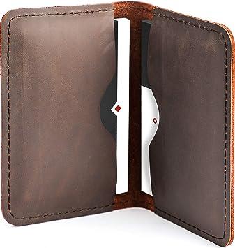 Genuine Leather Business Card Holder Organizer Holds 96 Cards Burgundy Office !!
