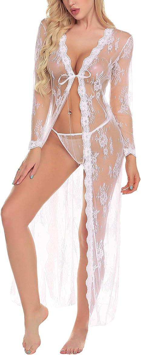 lencería transparente sexi mujer