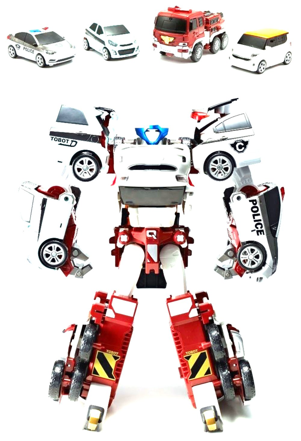 Tobot Quadrant Transformer Robot Toy KIA Motors Diecast Cars Vehicles by Youngs Toy by Youngs Toy