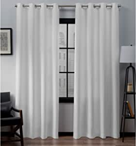 Eyelet curtains Anneau Top Fully Lined Pair Ready made DAMASK curtains 9 COLOURS