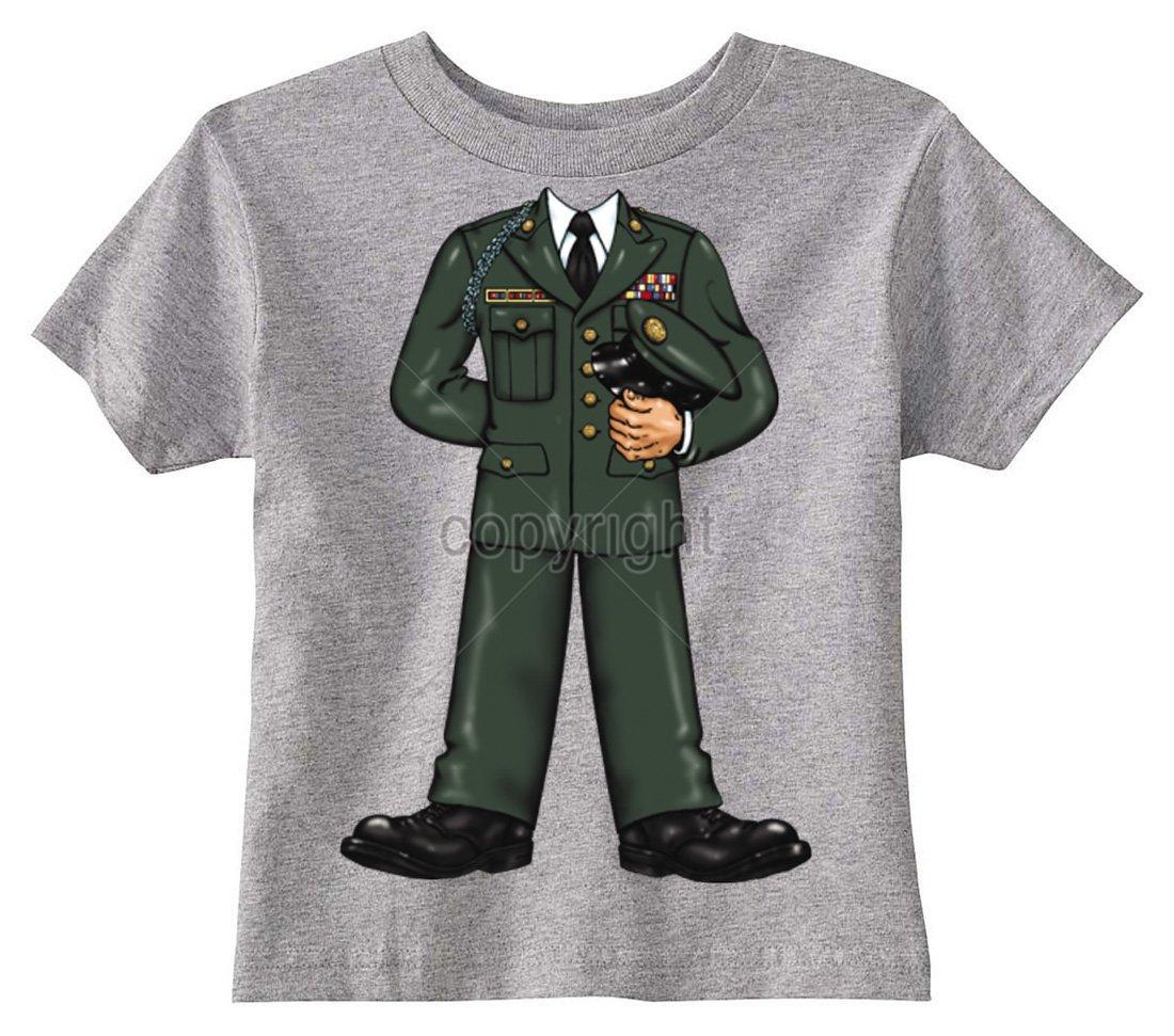 Gray Toddler T-Shirt U.S Custom Kids US Army Officer Body Toddler T-Shirt 4T T-Shirt