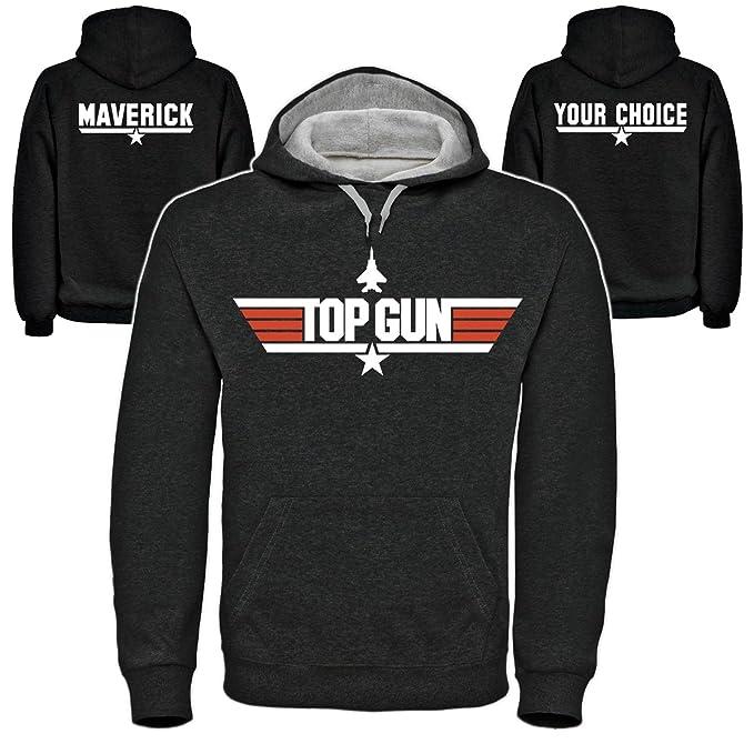 Top Gun sudadera con capucha customiza tu llamada (s-2xl) diseño con texto en inglés! Maverick, o de tu elección de ganso!: Amazon.es: Ropa y accesorios