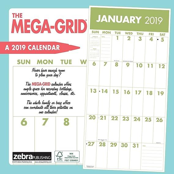 Mega Grid 2019 - Calendario de pared: Amazon.es: Oficina y ...