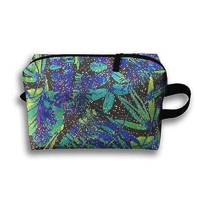 GNMB Tropical Plant Portable Receiving Bag Make-up Travel Bag Multi-function Bag