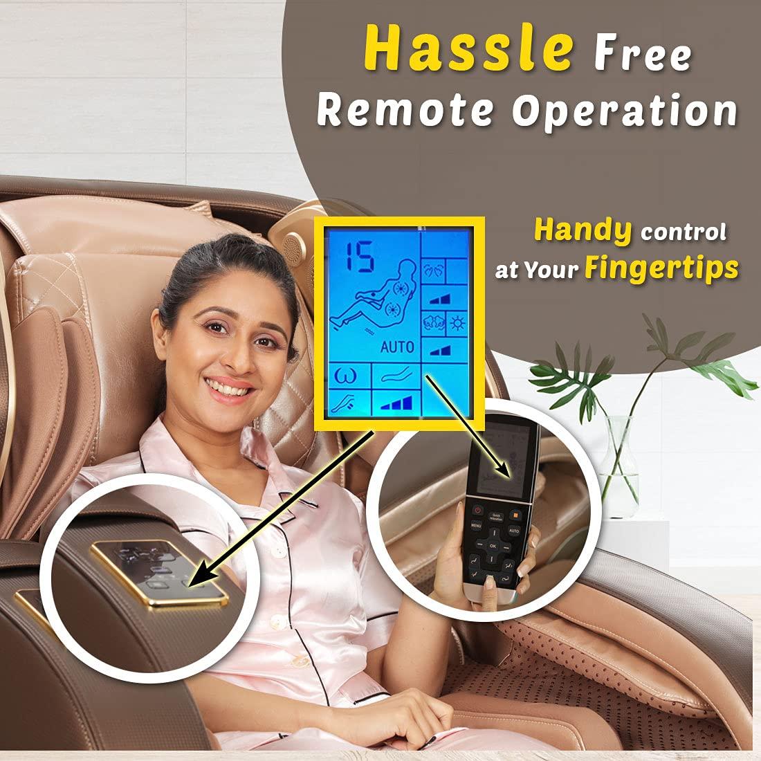 JSB MZ21-Long Recliner 4D Massage Chair for Tall People