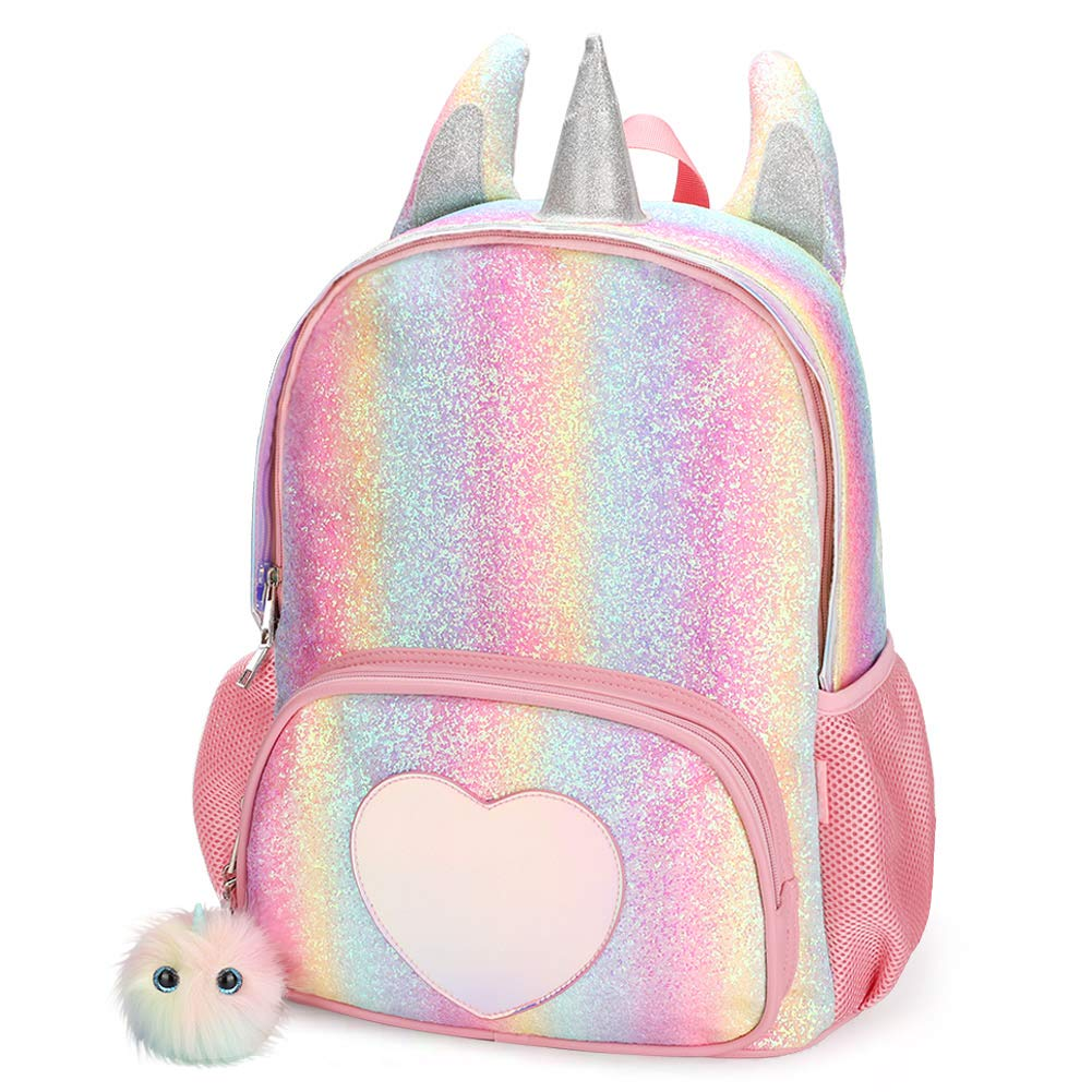 Mibasies Kids Unicorn Backpack for Girls Rainbow School Bag (Rainbow Glitter) by Mibasies