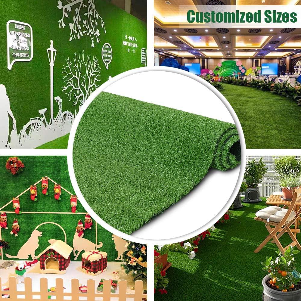 Amazon Com Artificial Grass Turf Lawn 7ftx12ft Economy Indoor Outdoor Synthetic Grass Mat Backyard Patio Garden Balcony Rug Rubber Backing Drainage Holes Garden Outdoor