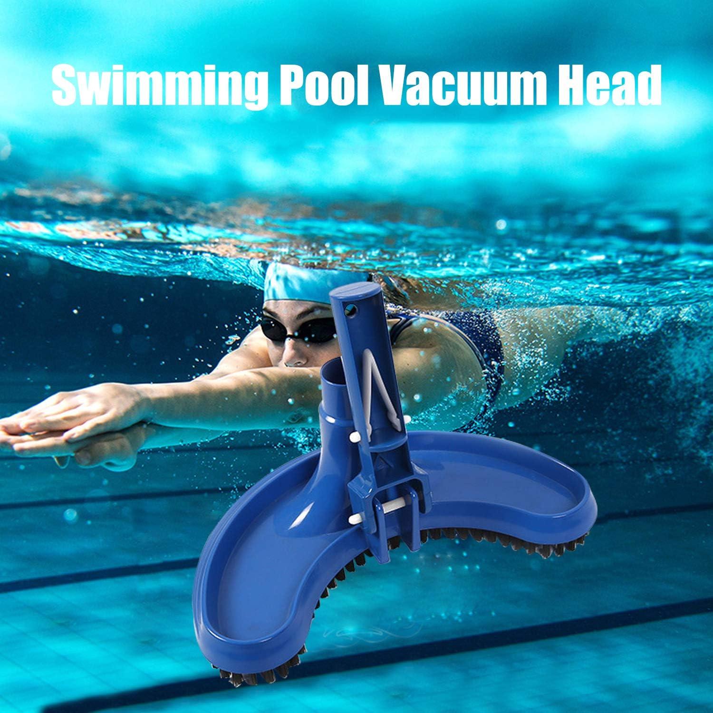 Pool Vacuum Head with Clip Handle Drawstring Bag Pool Pond Cleaning Spray Brush