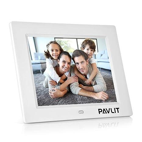 ... PAVLIT LCD Pantalla de 8 Pulgadas con Alta Resolución, IPS Widescreen HD para Fotos y Vídeos, Remote Control, Color Blanco: Amazon.es: Electrónica
