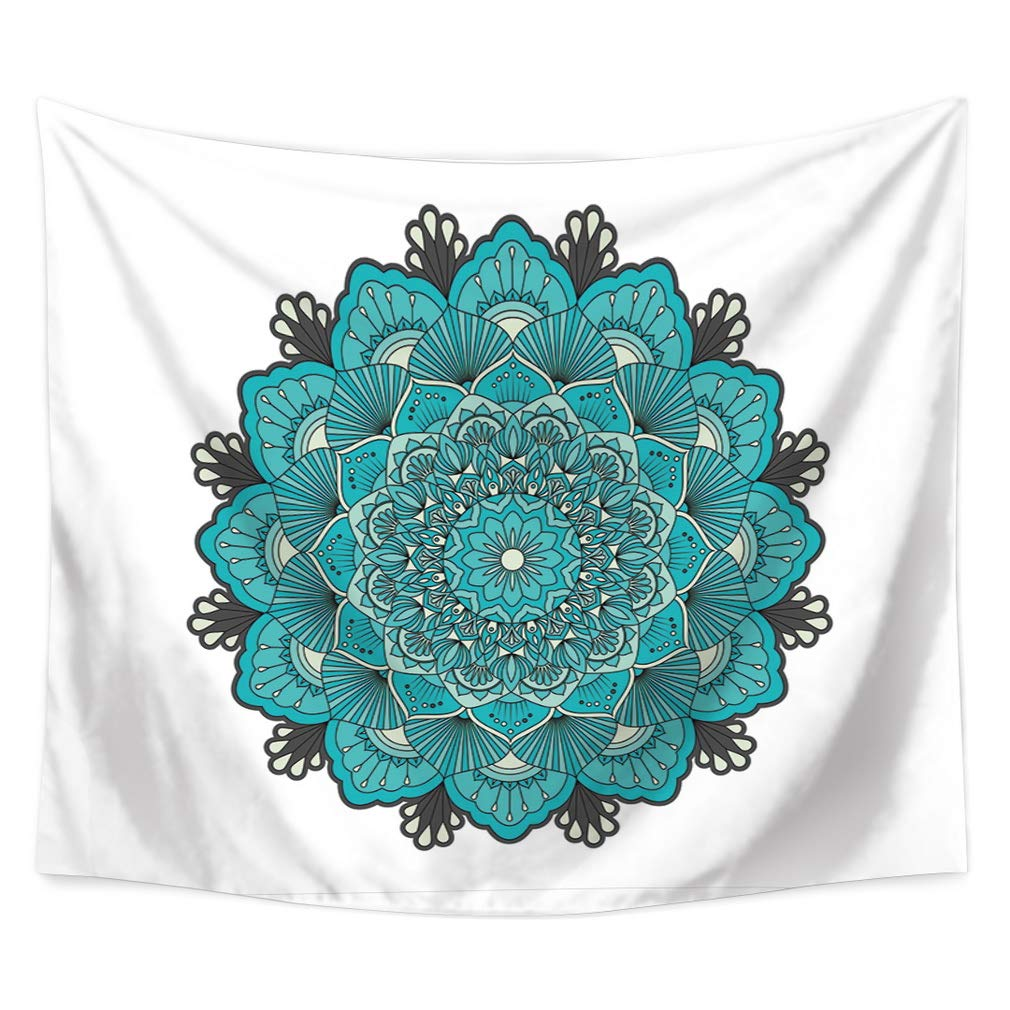 Nunubee Mandala Print Wall Tapestry Polyester Hippie Tapestry Decorative Wall Hanging Tapestries Bedroom Dorm Home Decor M #7-35x29 Inch / 90x75 cm