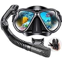 DIVE&SAIL Snorkel Set for Women and Men, Swimming and Scuba Diving, Anti Leak Dry Top Snorkel Gear Panoramic Silicone…
