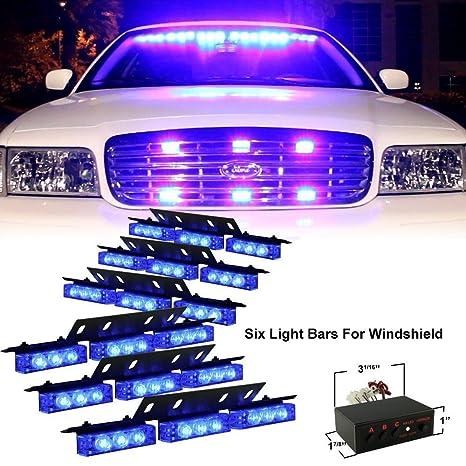 Amazon diyah 54 led high intensity led light bar law diyah 54 led high intensity led light bar law enforcement emergency hazard warning strobe lights for aloadofball Images