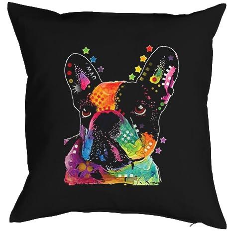 Pop Art - Cojín: Bulldog francés::: Un Cómodo como Präsent ...