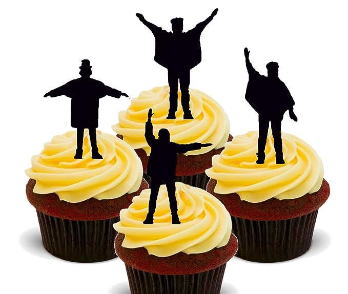 Made4You The Beatles Help - Decoración comestible para cupcakes ...