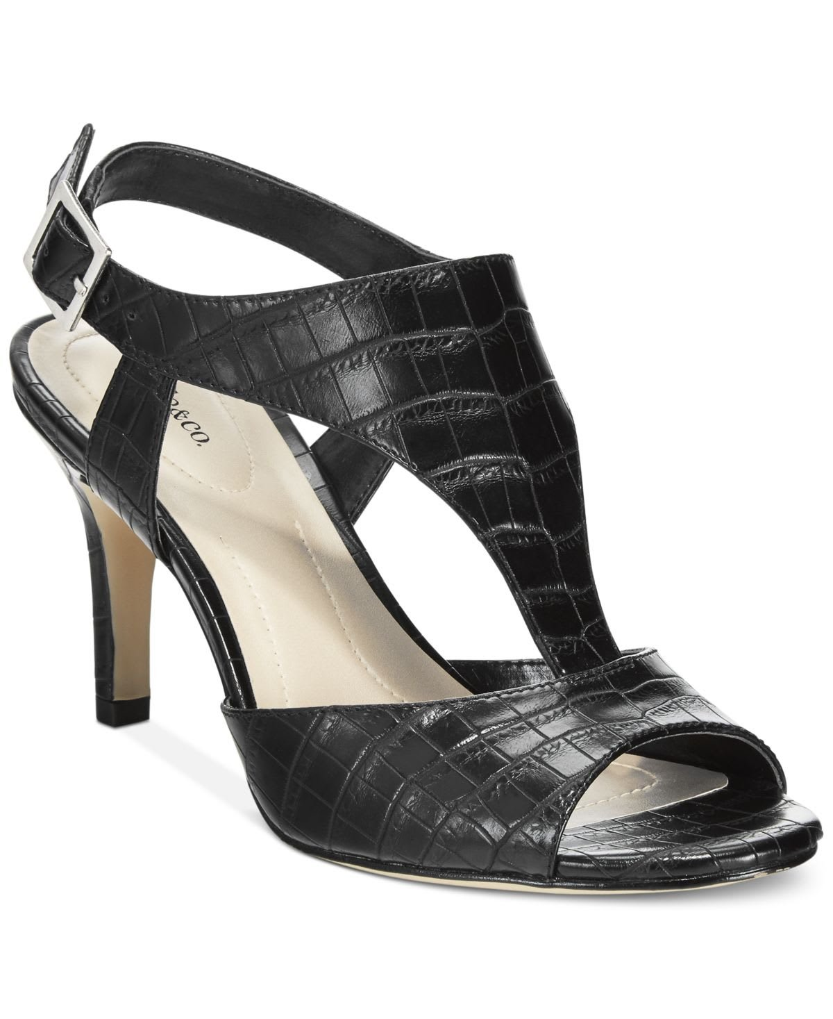 Style & Co. Womens Saharii Open Toe Casual Ankle Strap Sandals, Black, Size 8.0