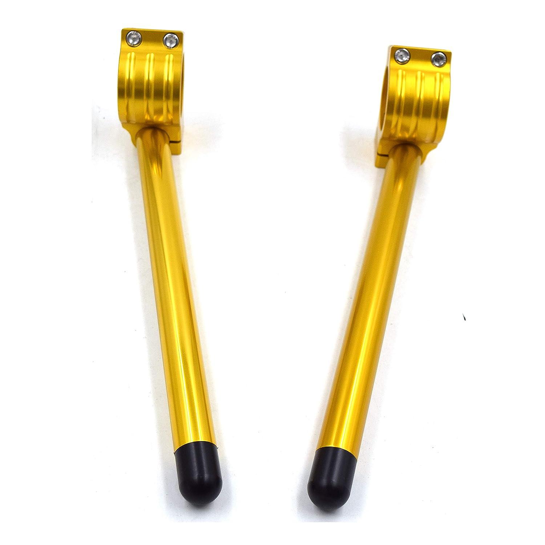 CNC Aluminio Kit semimanillares moto 38mm para NINJA 600//750//900 1985-1992//TZR250 1985-988 //FZR 400//600 Universal Tenedor /Ø 38MM semimanillares racer caf/é /Ángulo 8 /° tubos /Ø 22MM color Negro