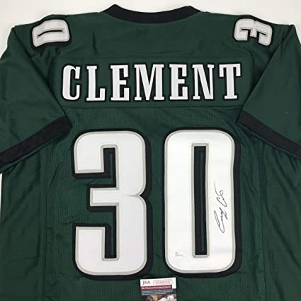 Image Unavailable. Image not available for. Color  Autographed Signed Corey  Clement Philadelphia Green Football Jersey JSA COA 0a21e275d