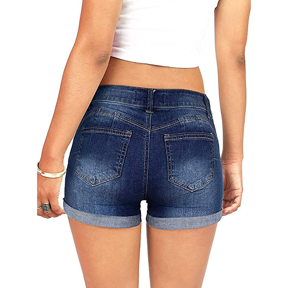 2d3322f2f875df Sport & Freizeit Sommer Hot Pant,HUYURI Frauen Low Waisted Washed Ripped  Mini Jeans Shorts