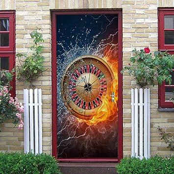 Papel pintado de la puerta moderno arte Impresión Decorativos PVC ...