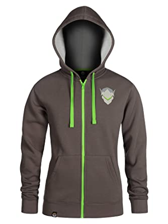 8e73592b1 Amazon.com: JINX Overwatch Ultimate Genji Zip-Up Hoodie: Clothing