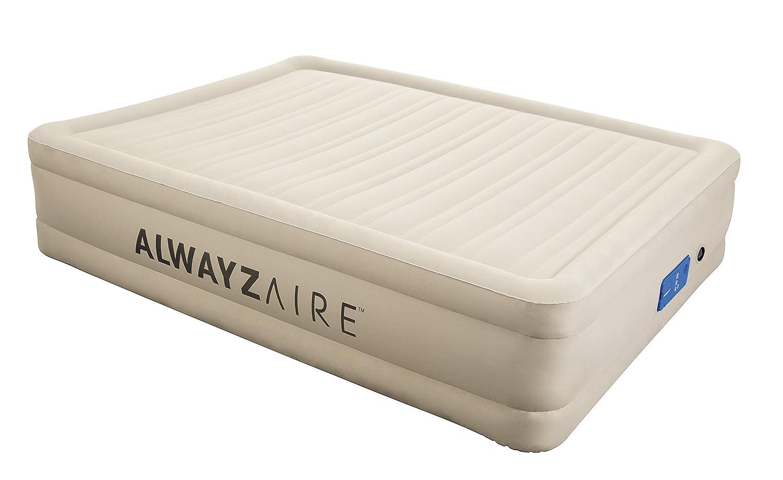 Bestway AlwayzAire Fortech Airbed (Luftbett mit eingebauter Elektropumpe, QueenGröße 203 x 152 x 43 cm)