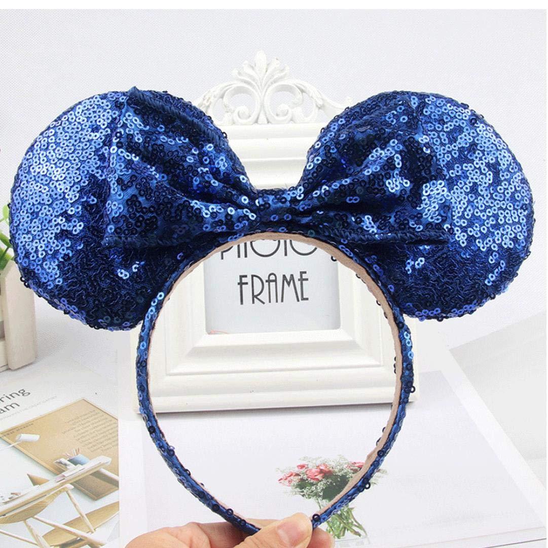 Mignon Mickey Mouse Oreilles Bandeau Papillon Glitter Hairband Pour Les Filles