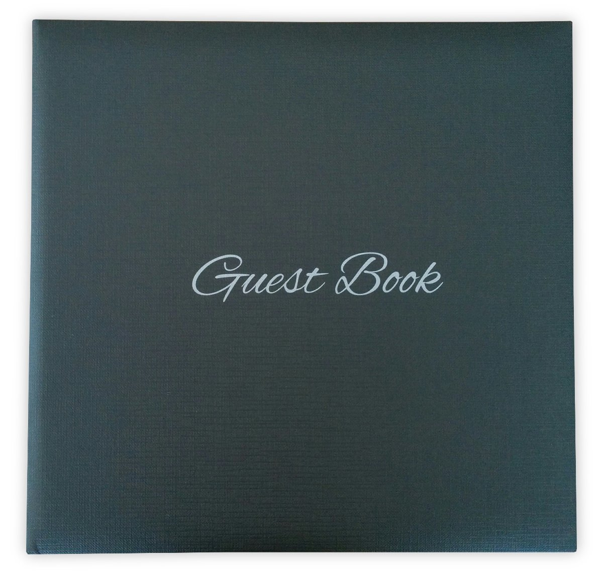 Guest Book - Black - 120 pages - size 9.5'' 24cm - Book cover Thick cardboard Woven effect LODAFON