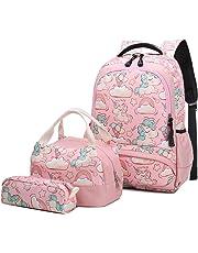 7380bee1069 Mochila Escolar Chica Unicornio Linda Bolso 3 en 1 Casual Backpack Set de  Mochilas para Niñas