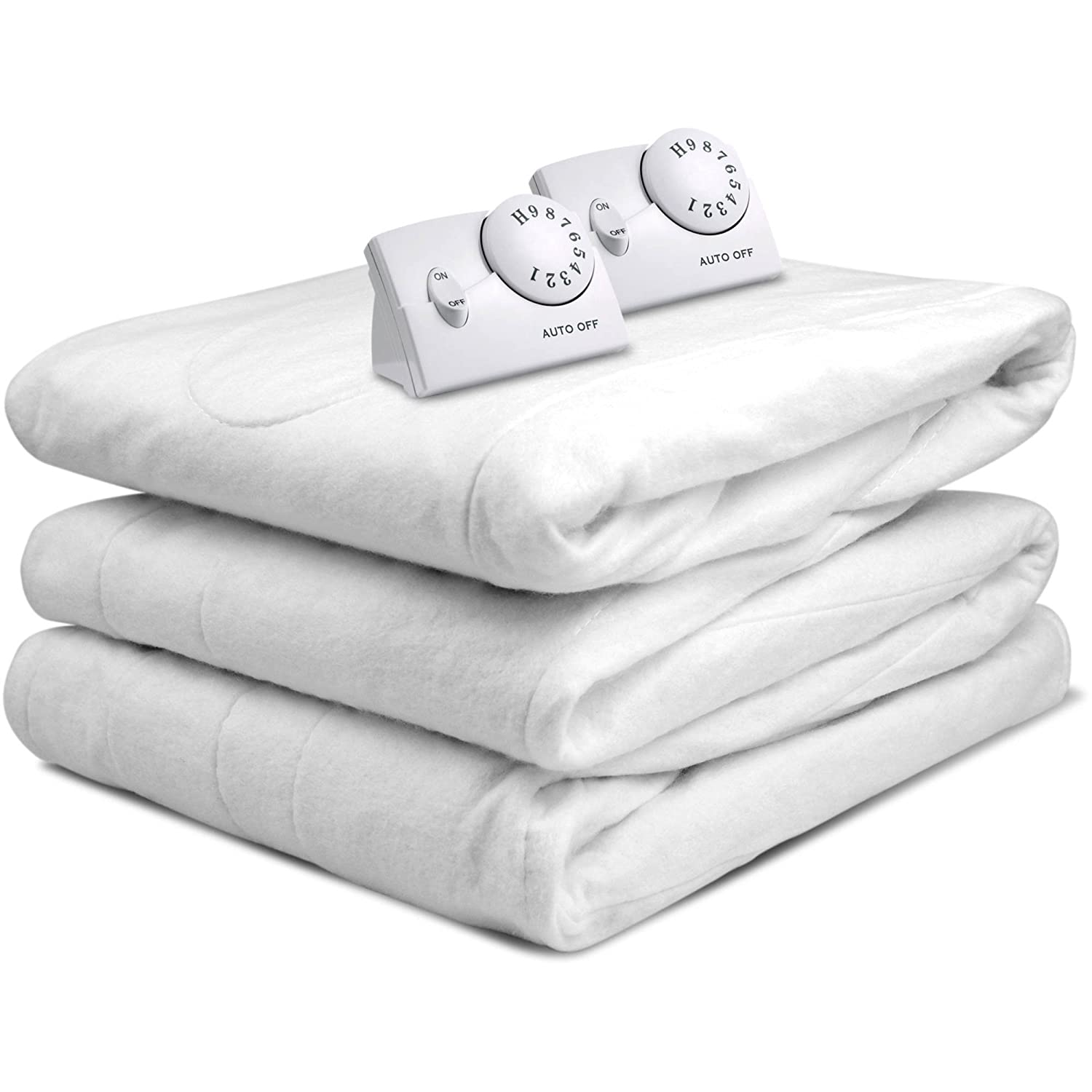 Biddeford 5900 Automatic Electric Heated Mattress Fitted Pad, White (Queen) COMIN18JU064189