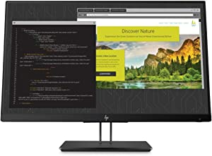 HP Z24nf Display 23.8-Inch Screen LED-Lit Monitor Black Pearl (1JS07A8#ABA)