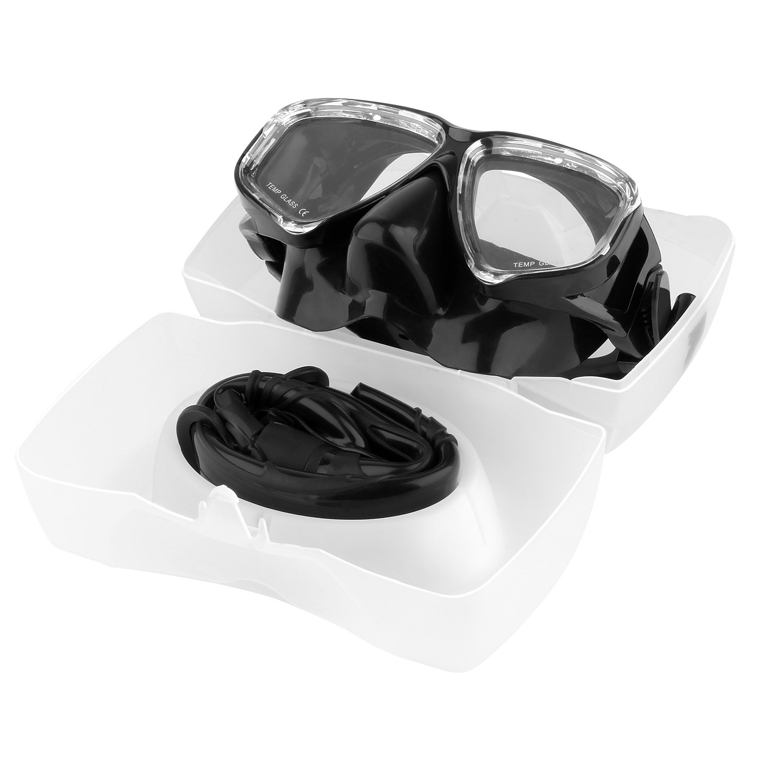 Pro Snorkeling Diving Mask with Anti-Fog Film Glass and Flexible Silicone Snorkel Tube for Adult NOCKNOCK Snorkel Set