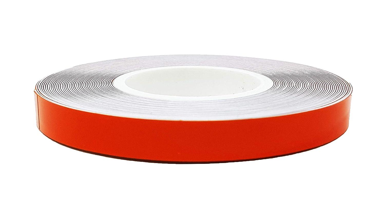 Quattroerre 10252 Wheel Stripes Rifrangenti per Cerchi Moto 5 mm x 6 mt Rosso