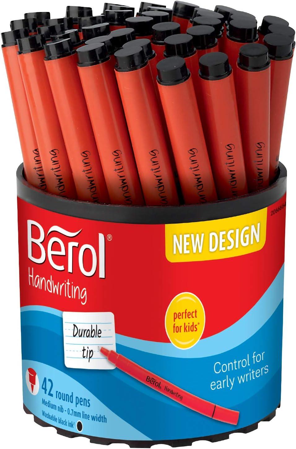 8 x Berol Handwriting Pens Blue or Black or Mix