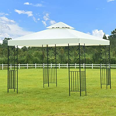 2 Tier 10' x 10' Outdoor Wedding Party Canopy Tent Home & Garden Lawn Outdoor Living Outdoors Structures Canopies Shade House Décor Yard Living Awnings Marquees Tents, Baldachin, Baldaquin, Balcony. : Garden & Outdoor
