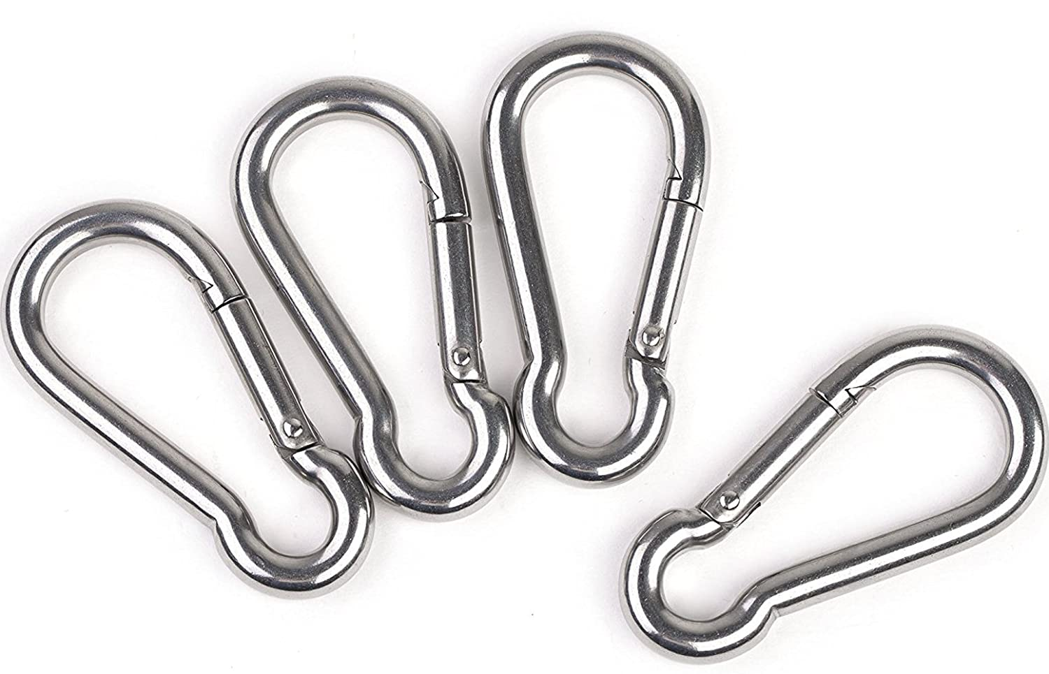 Faswin 3 Inch Stainless Steel Spring Snap Hook Carabiner, Set of 4 71AjRIoiWHL