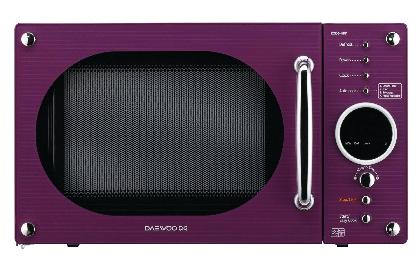 Daewoo KOR6N9RP Encimera 20L 800W Púrpura - Microondas (Encimera ...