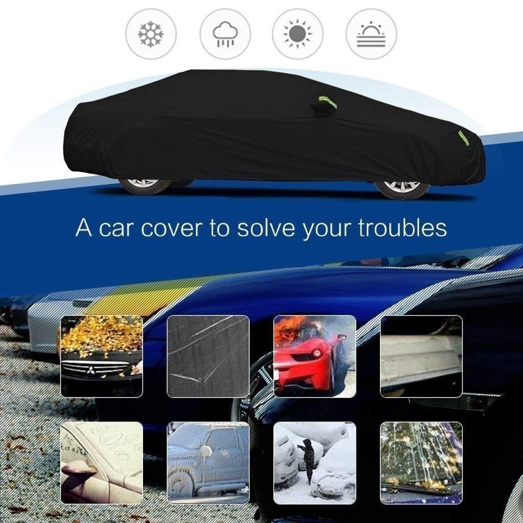Color : Silver-Oxford cloth - built-in lint Accessori per auto Compatibile con Suzuki Swift Copriauto Sportivo Impermeabile traspirante Spessa protezione solare Telone da pioggia Tela