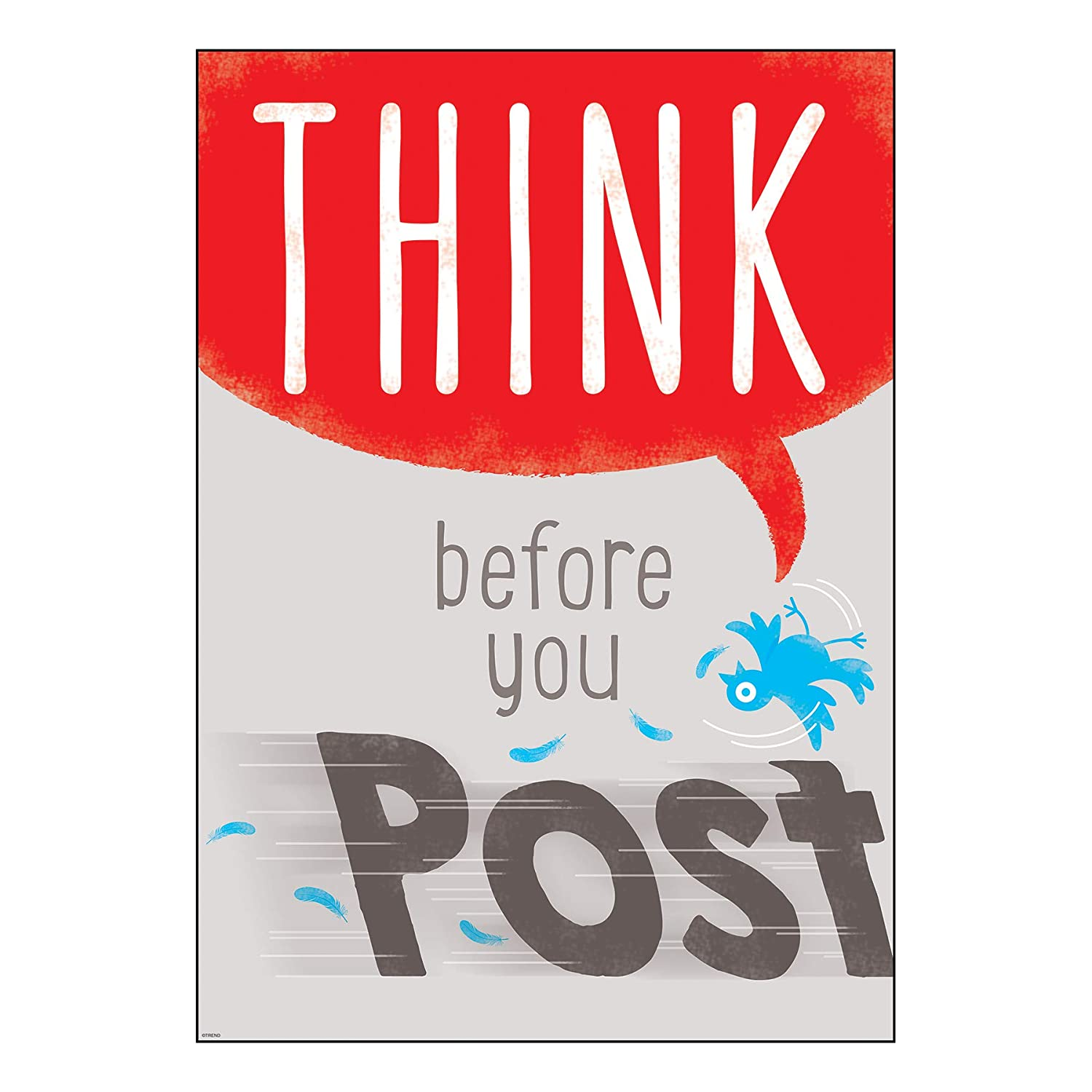 Amazon.com: Póster de Argus Think Before You Post, 13.375 x ...