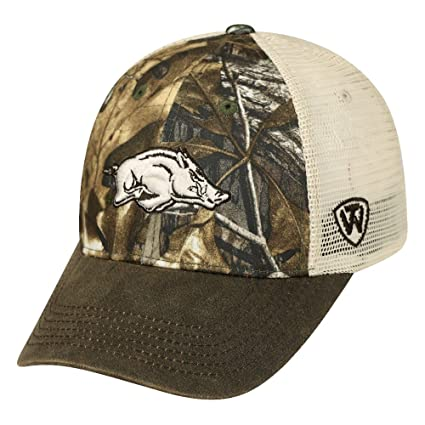 939f6df731c Image Unavailable. Image not available for. Color  Arkansas Razorbacks NCAA  Top of the World RealTree  quot Logger quot  Mesh Back Hat