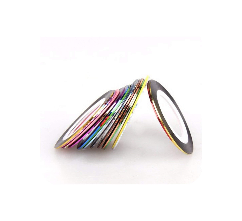 30 Rolls Mixed Colors Nail Art Strips Tape Line 3D Diy Nail Striping Decoration For Uv Gel Polish Nail Art Adhesive Sticker,Mixed by Mango-ice