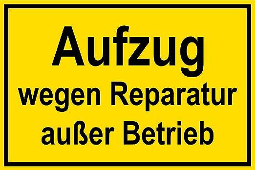Cartel de plástico - Ascensor caminos Reparación excepto ...