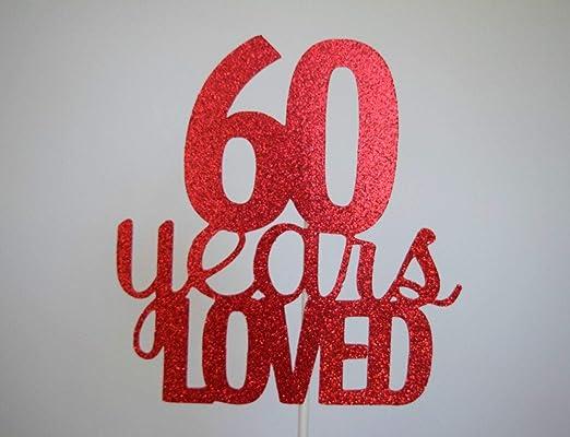 Decoración para tarta de 60 cumpleaños, 60 aniversario, 60 ...